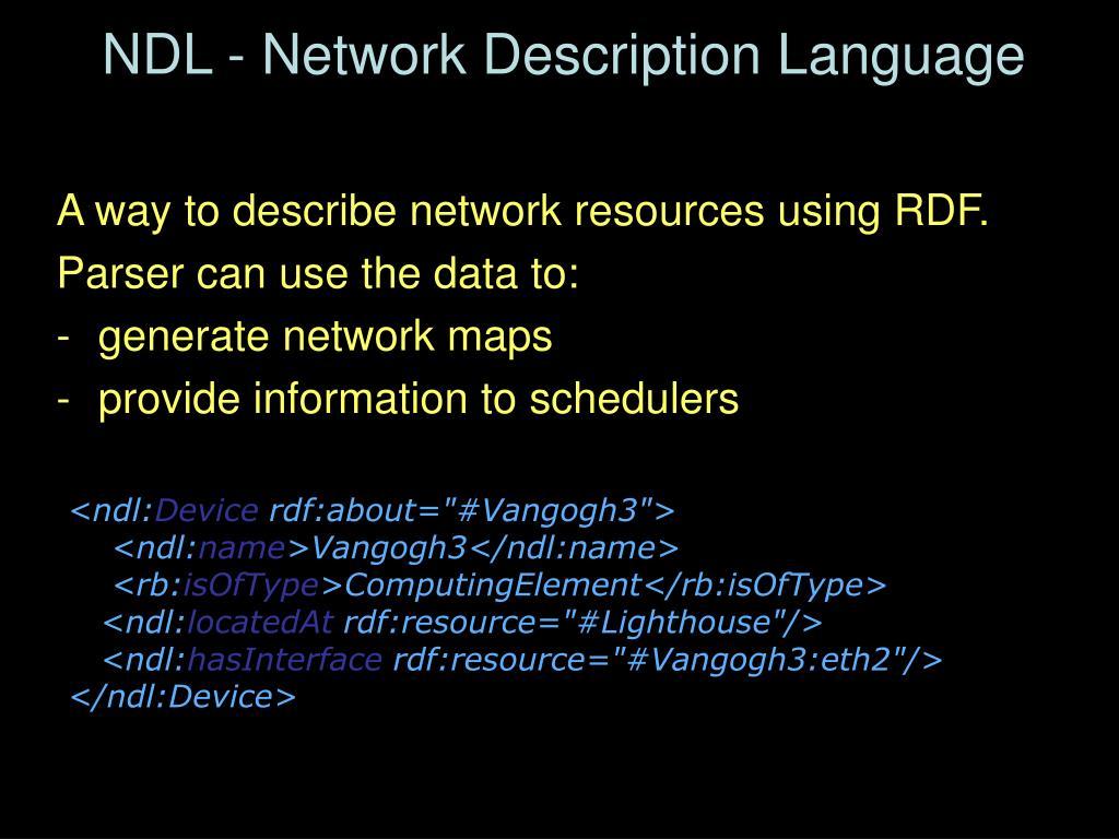 NDL - Network Description Language