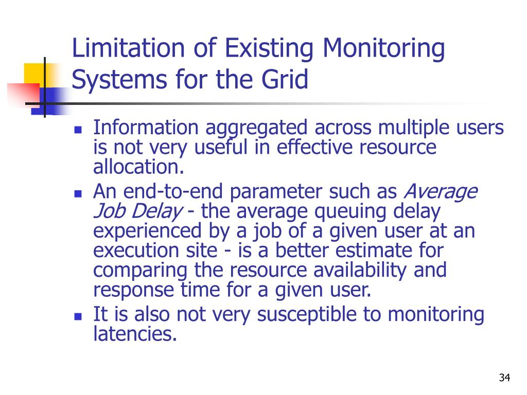 Limitation of Existing Monitoring Systems for the Grid