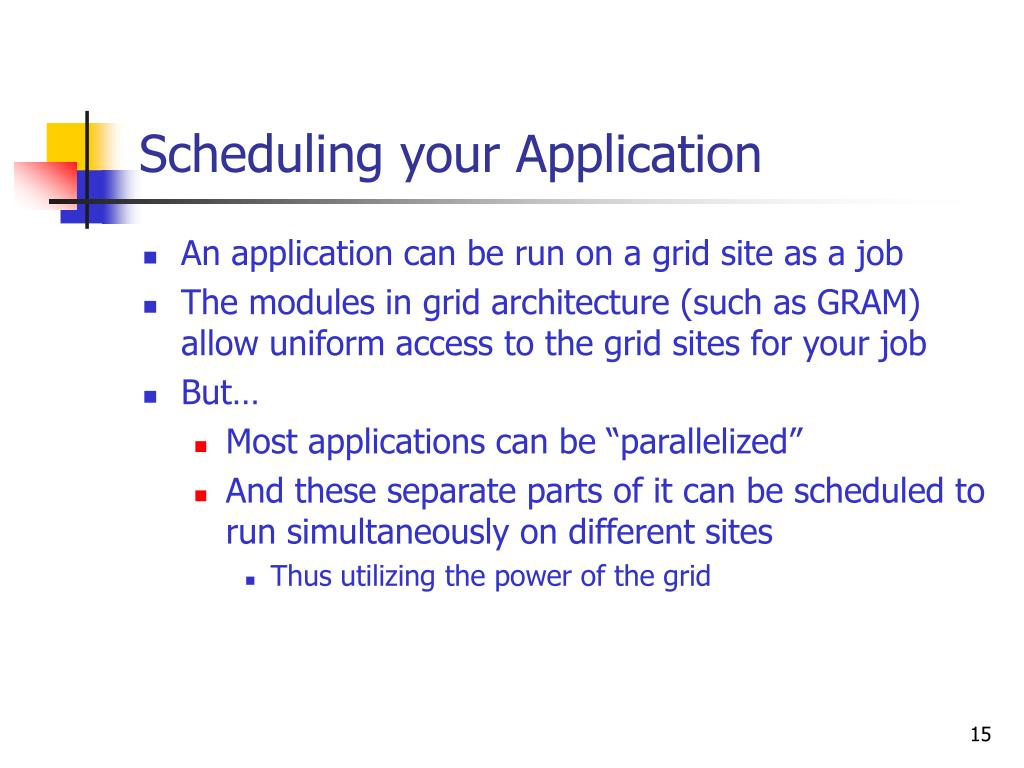 Scheduling your Application