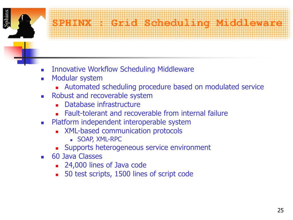 Innovative Workflow Scheduling Middleware
