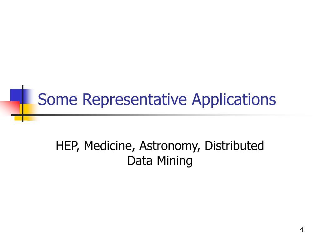 Some Representative Applications
