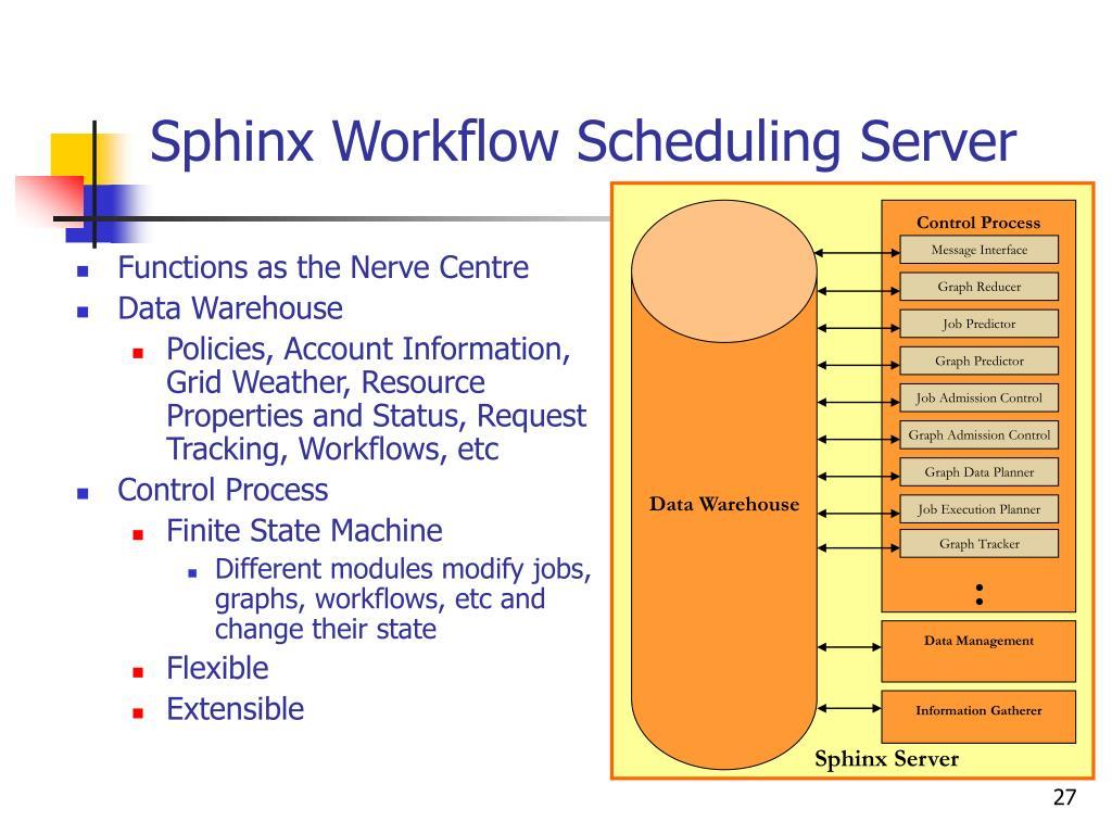 Sphinx Workflow Scheduling Server