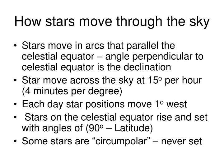 How stars move through the sky