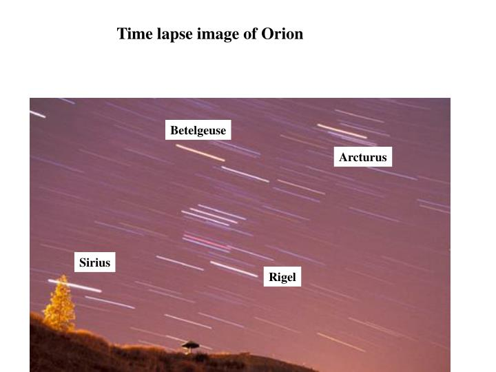 Time lapse image of Orion