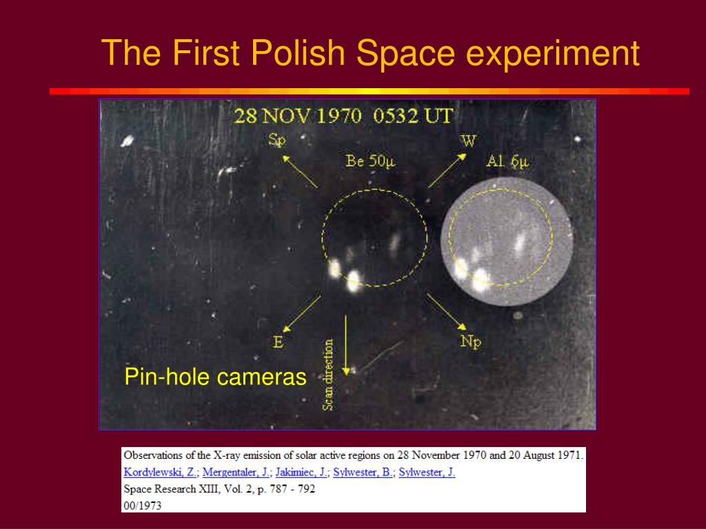 The First Polish Space experiment