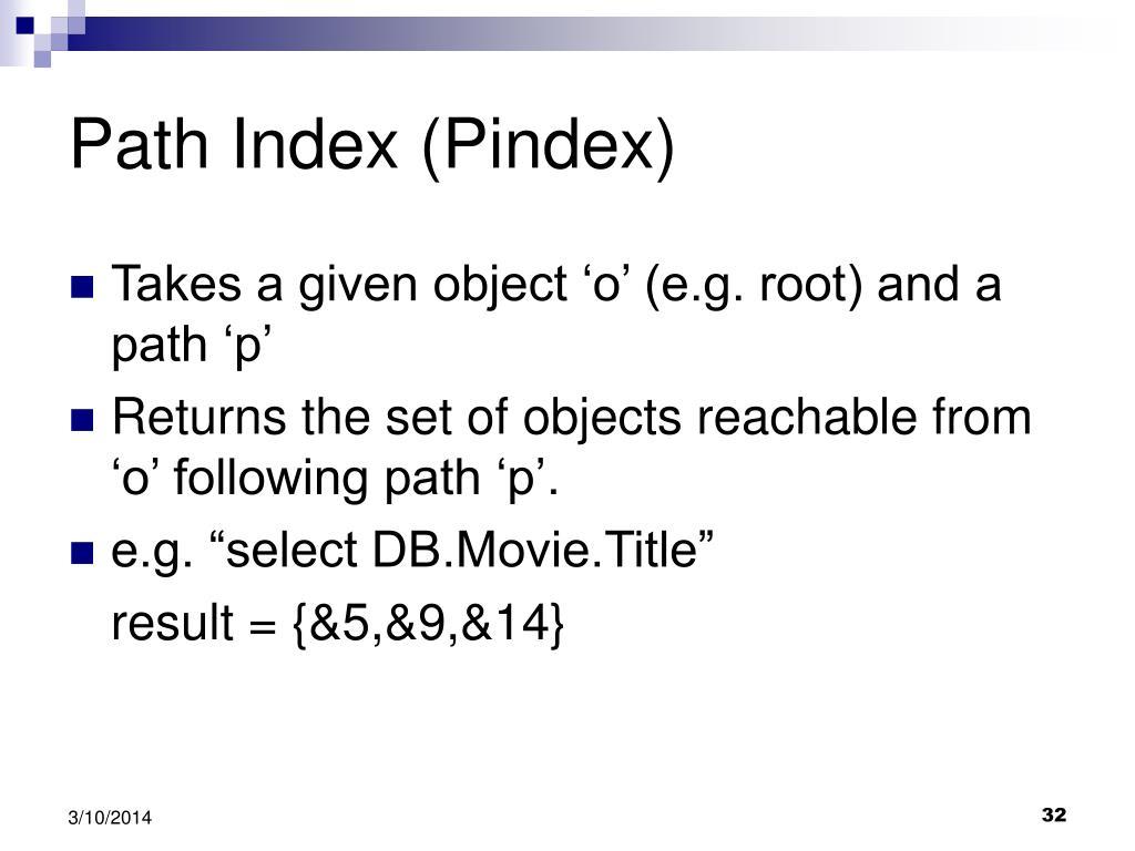 Path Index (Pindex)