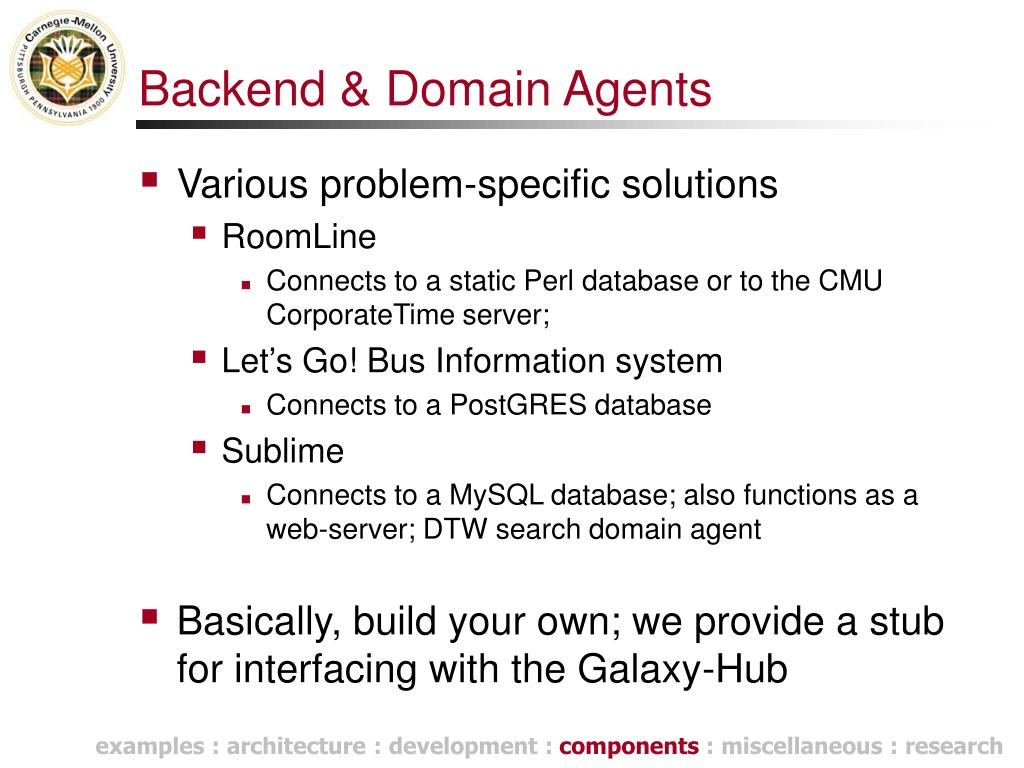 Backend & Domain Agents
