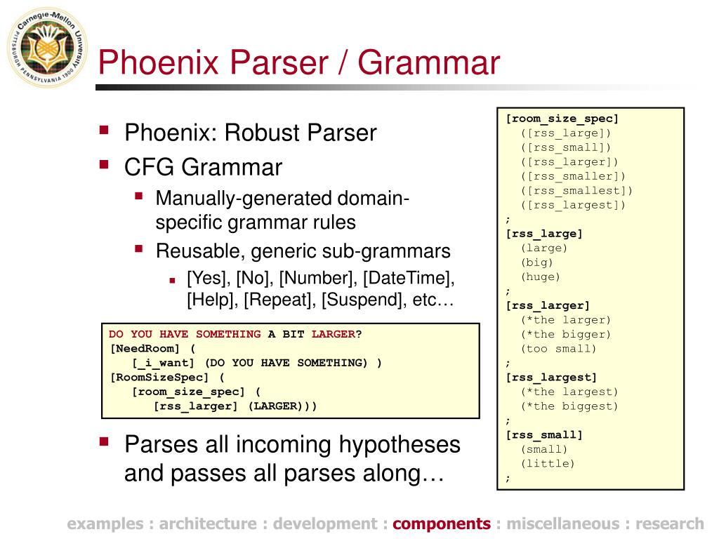 Phoenix Parser / Grammar