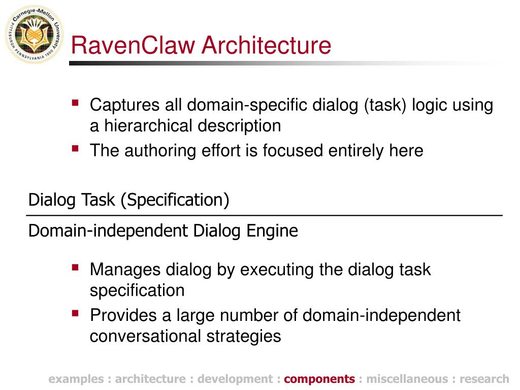 RavenClaw Architecture