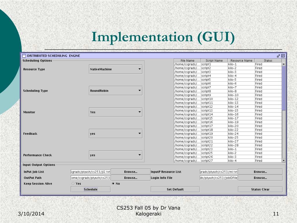 Implementation (GUI)