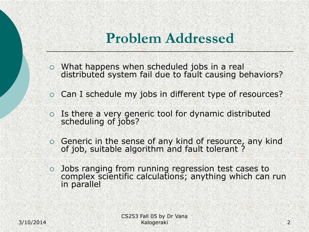 Problem Addressed