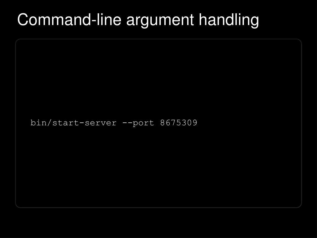 Command-line argument handling