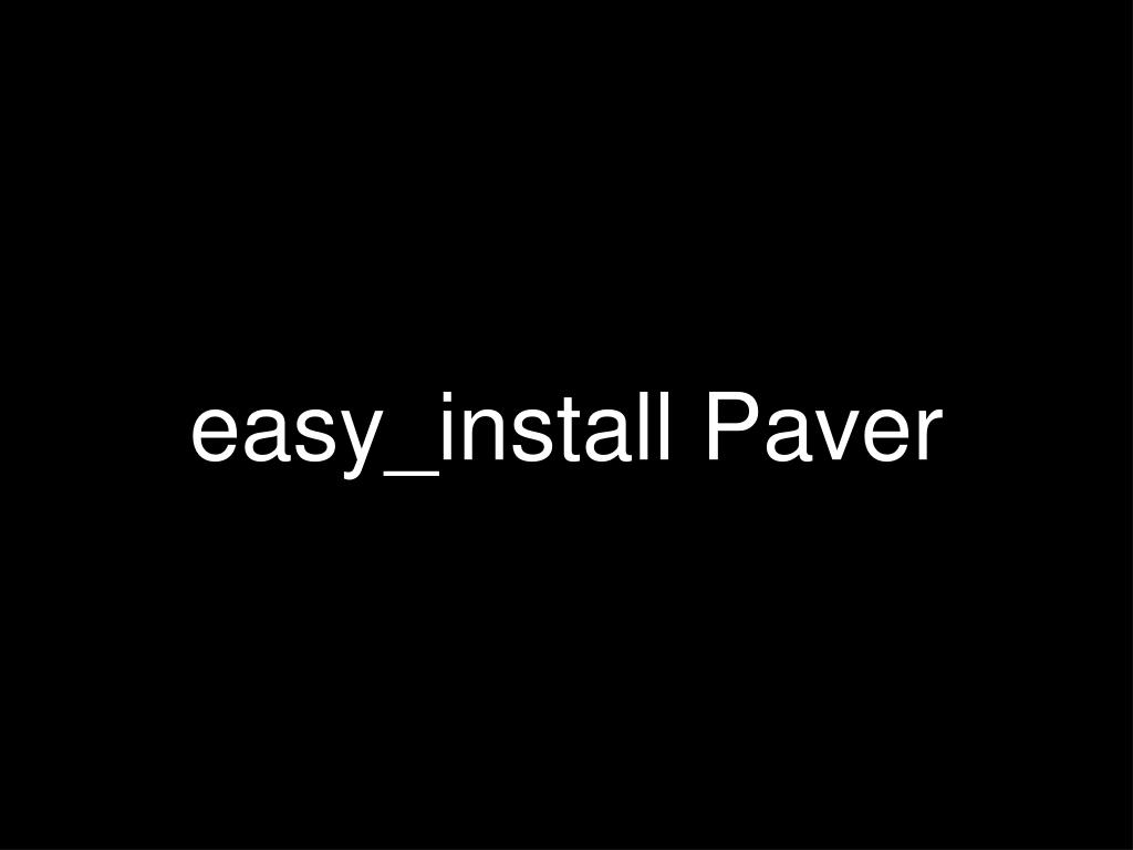 easy_install Paver