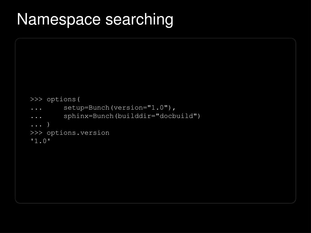 Namespace searching