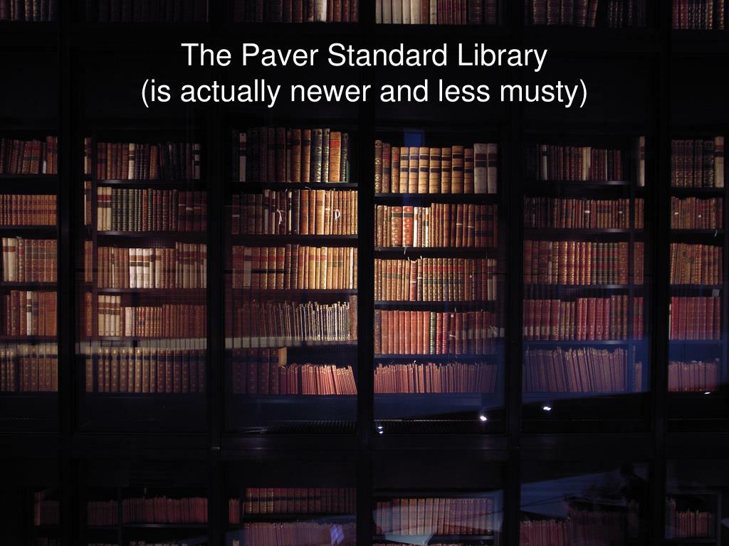 The Paver Standard Library