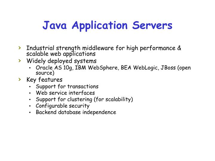 Java Application Servers