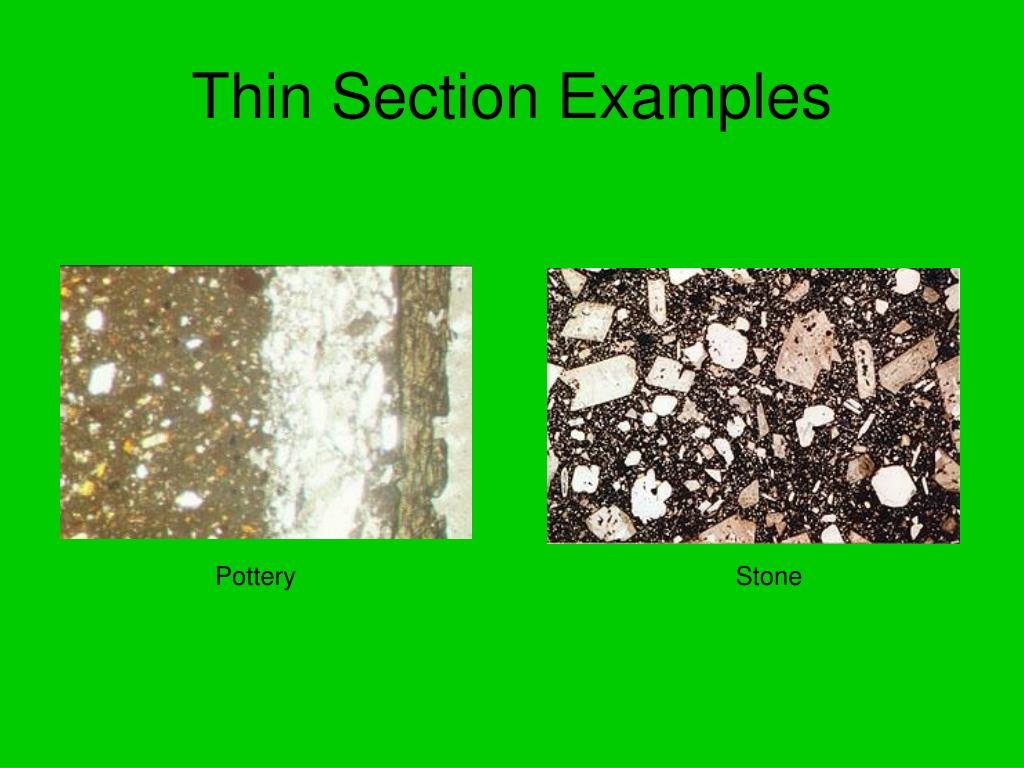 Thin Section Examples