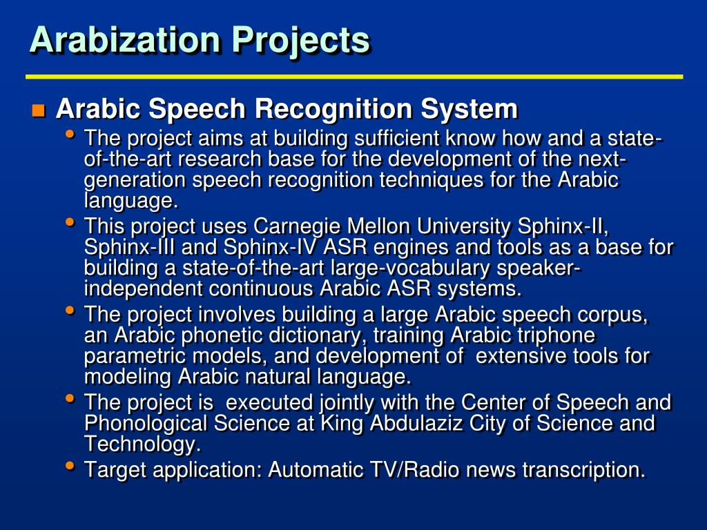 Arabization Projects