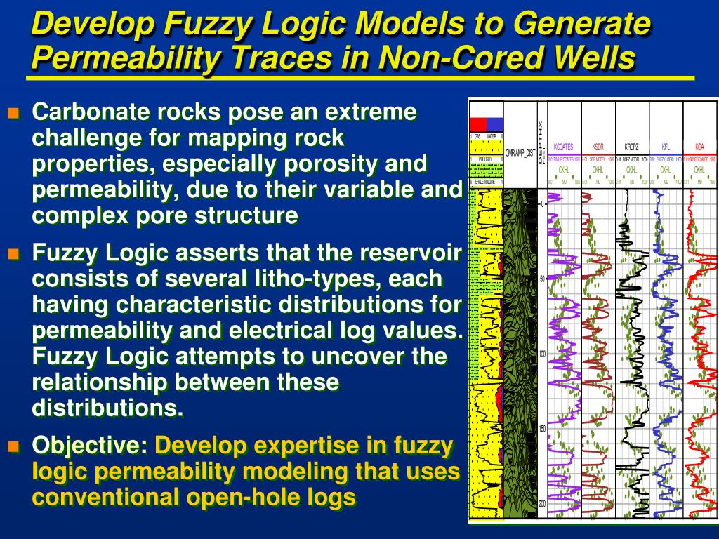 Develop Fuzzy Logic Models to Generate Permeability Traces in Non-Cored Wells