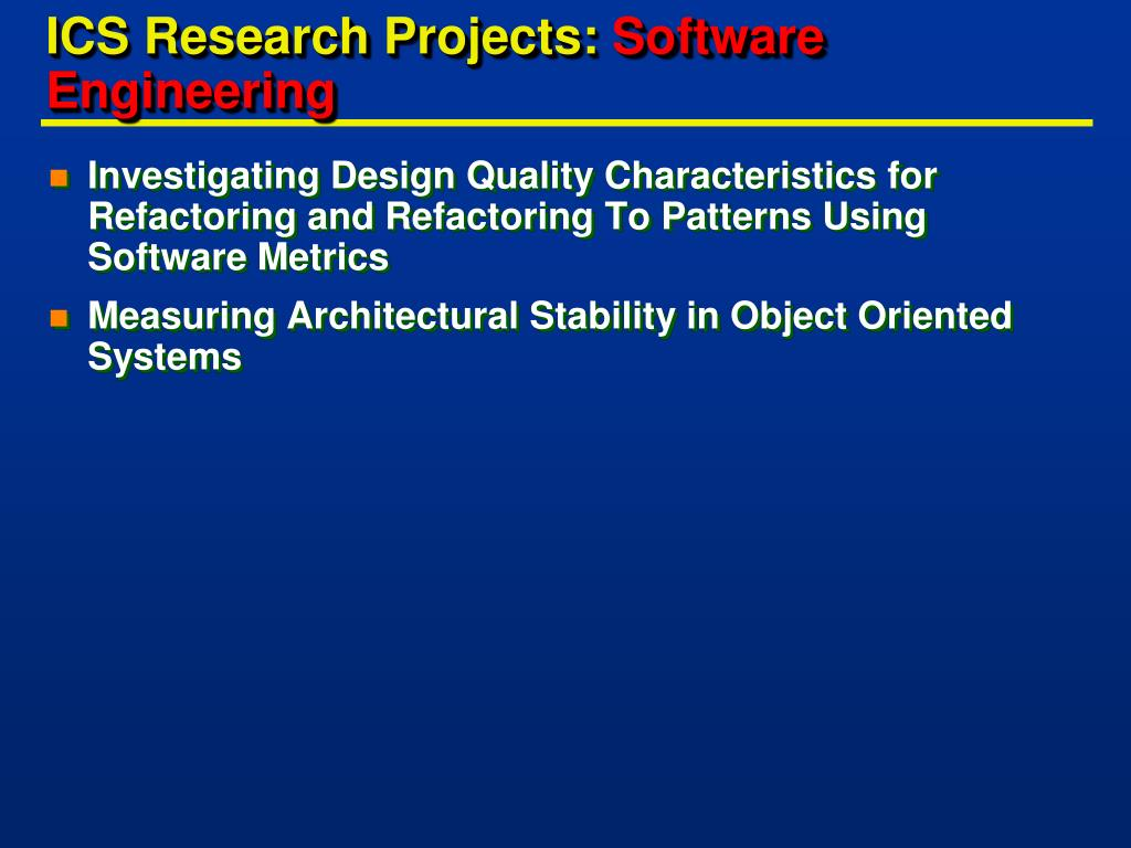 ICS Research Projects: