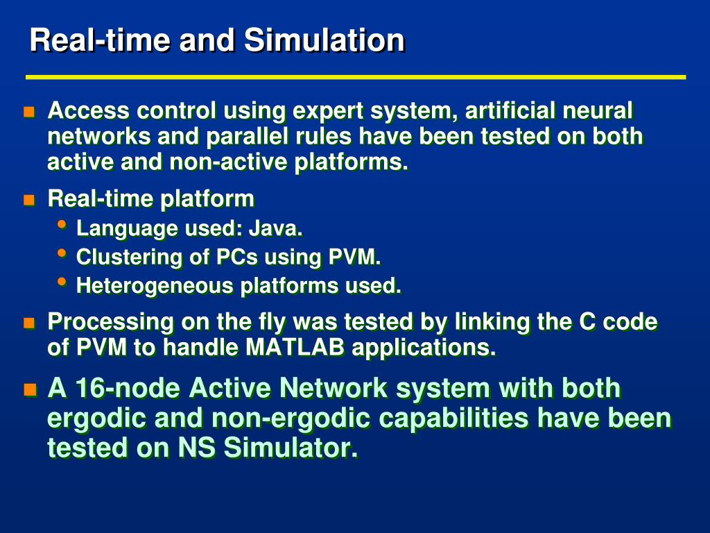 Real-time and Simulation