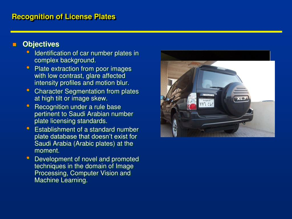 Recognition of License Plates