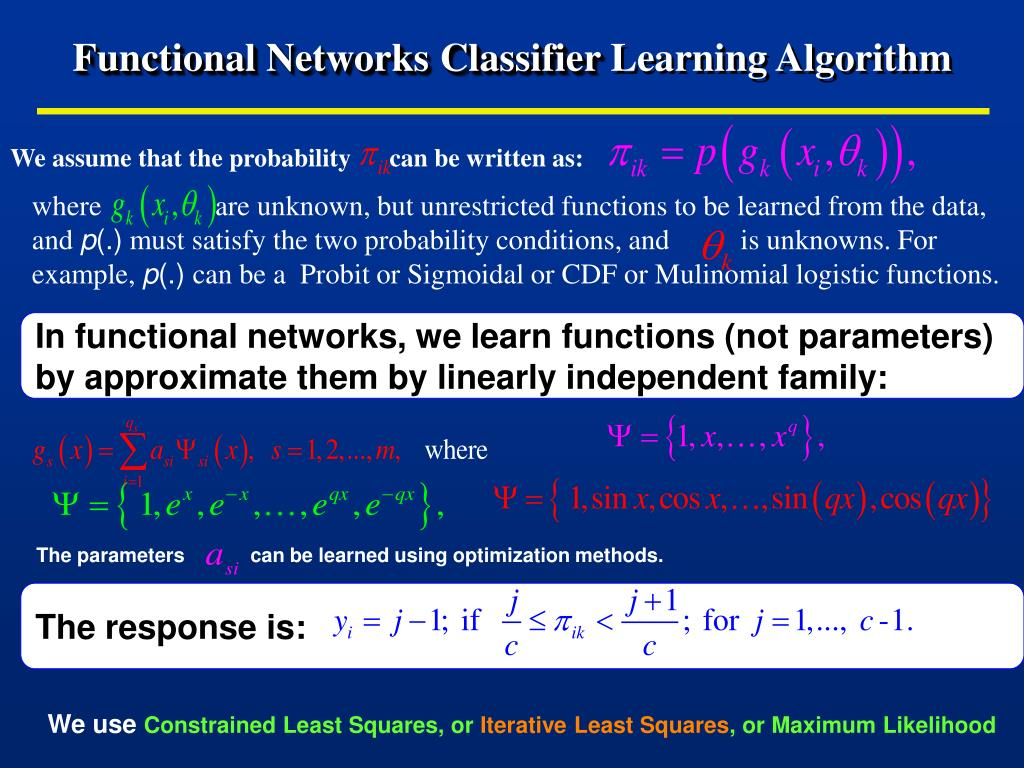 Functional Networks Classifier
