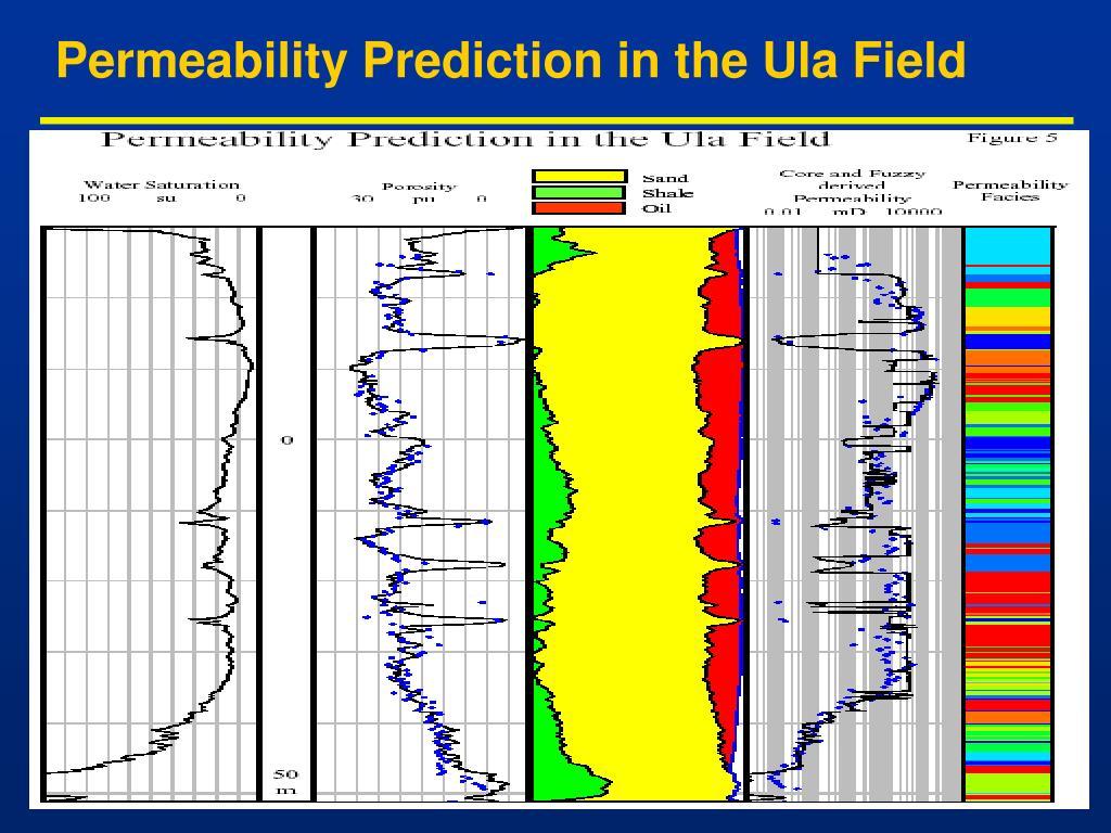 Permeability Prediction in the Ula Field