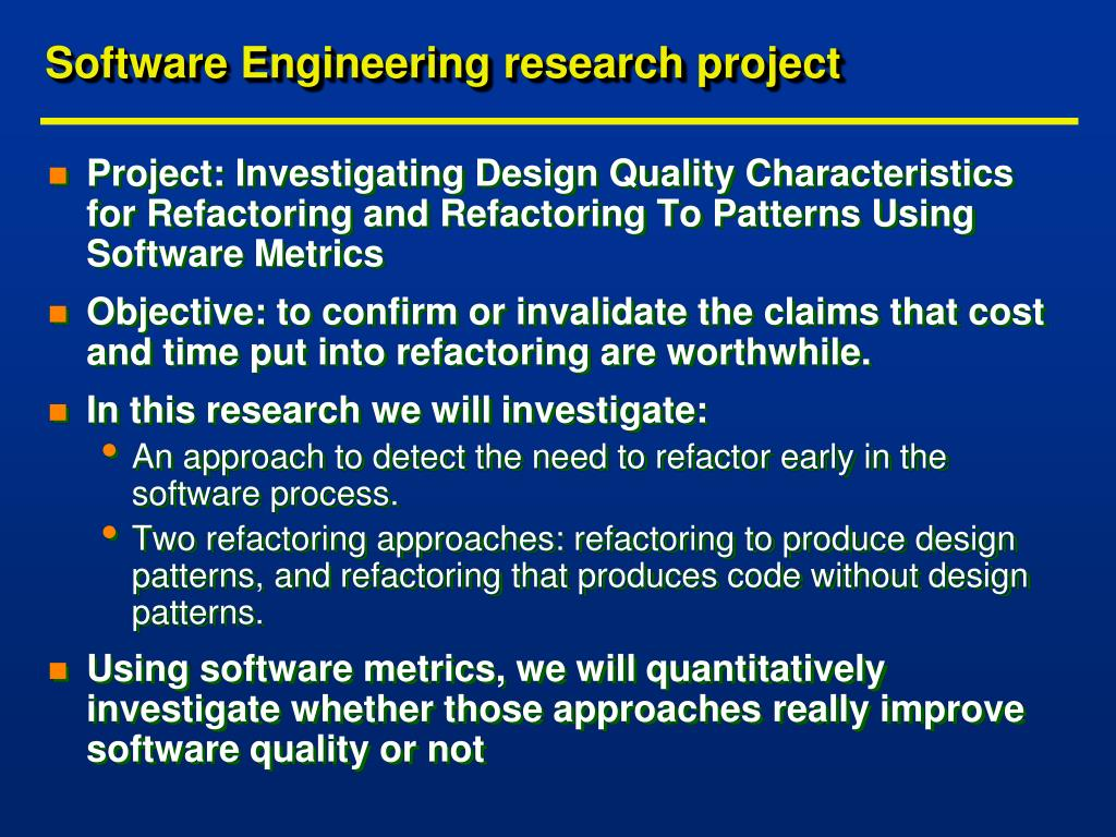 Software Engineering research project