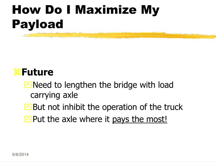 How Do I Maximize My Payload