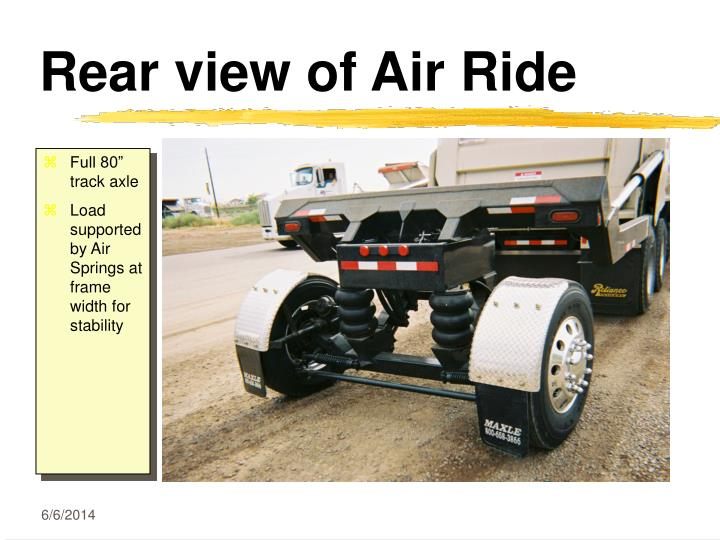 Rear view of Air Ride