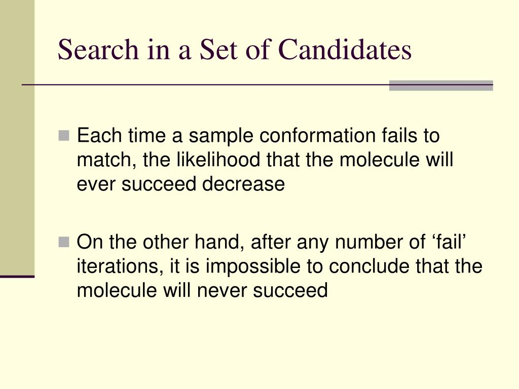Search in a Set of Candidates