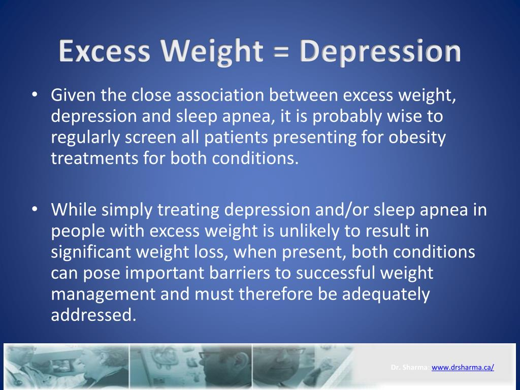Excess Weight = Depression