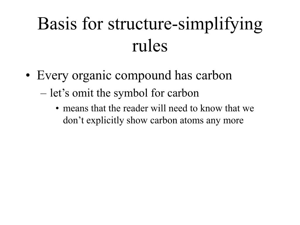 Basis for structure-simplifying rules