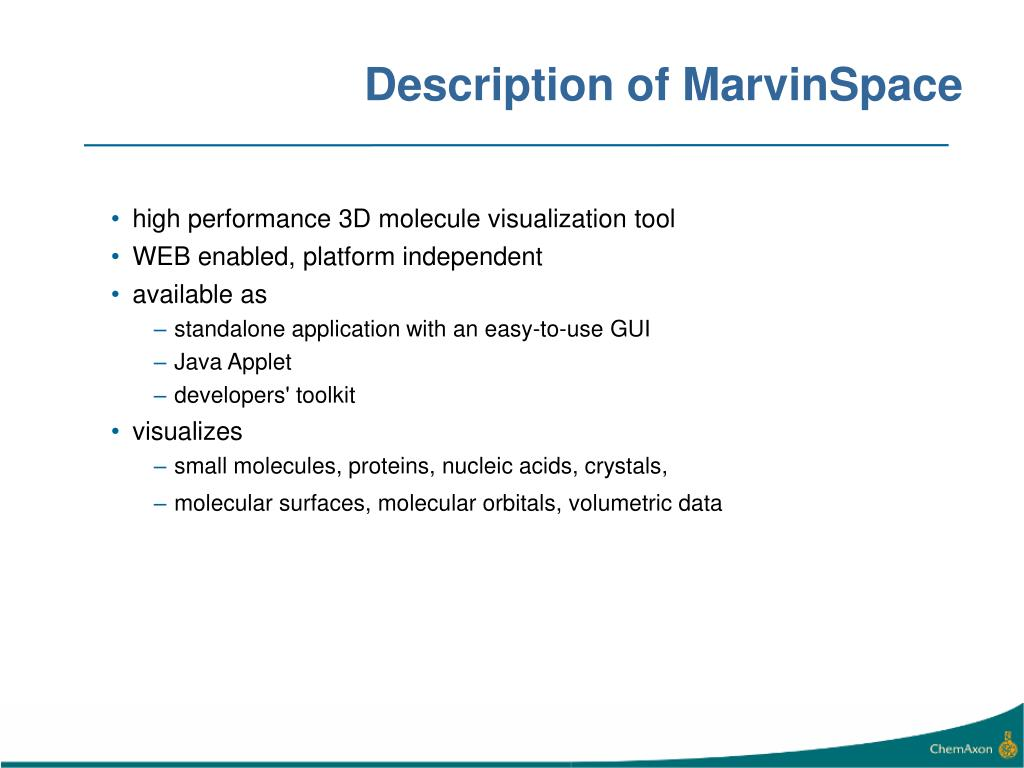 Description of MarvinSpace