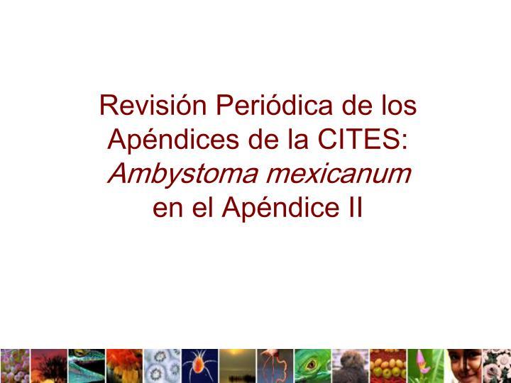 Revisión Periódica de los Apéndices de la CITES: