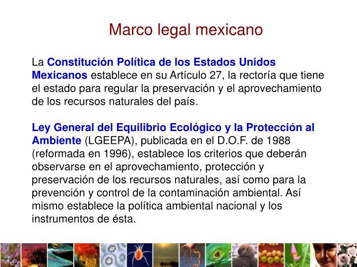 Marco legal mexicano