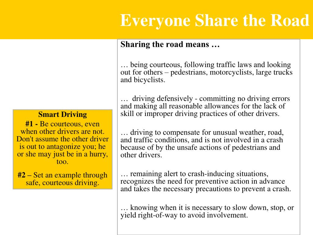 Everyone Share the Road