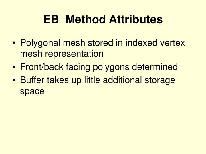 EB  Method Attributes