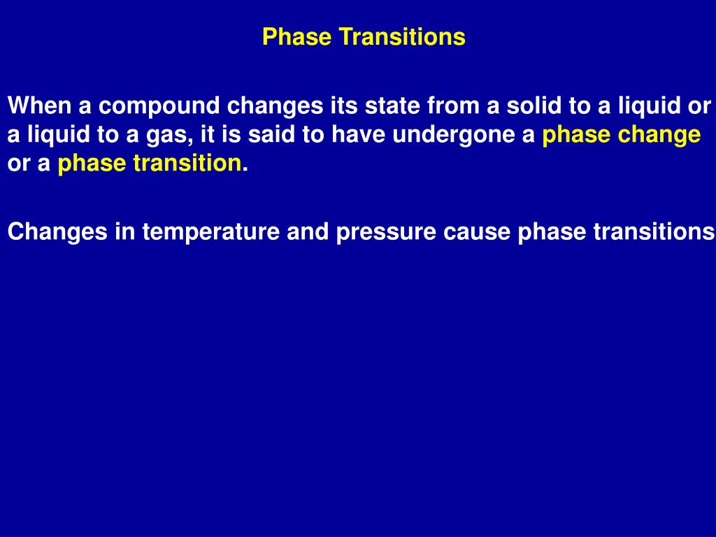 Phase Transitions