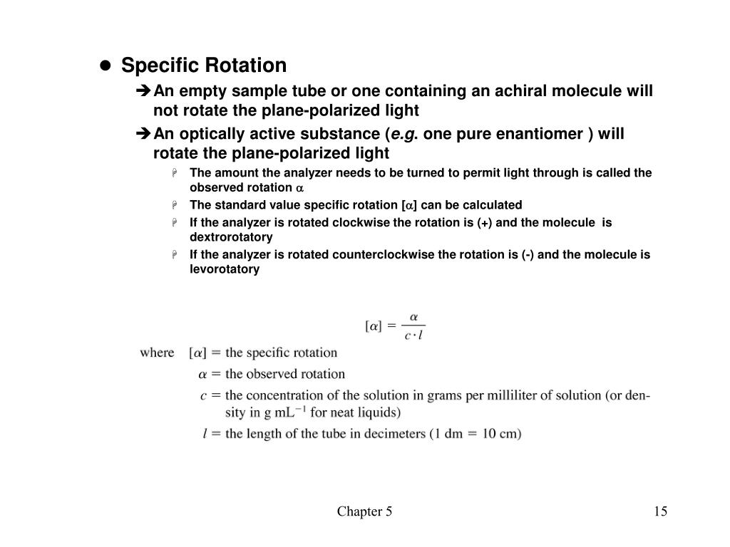 Specific Rotation