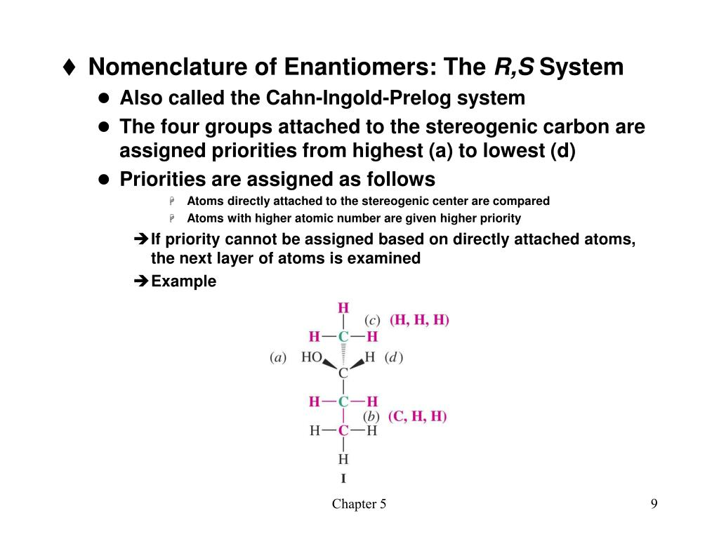 Nomenclature of Enantiomers: The