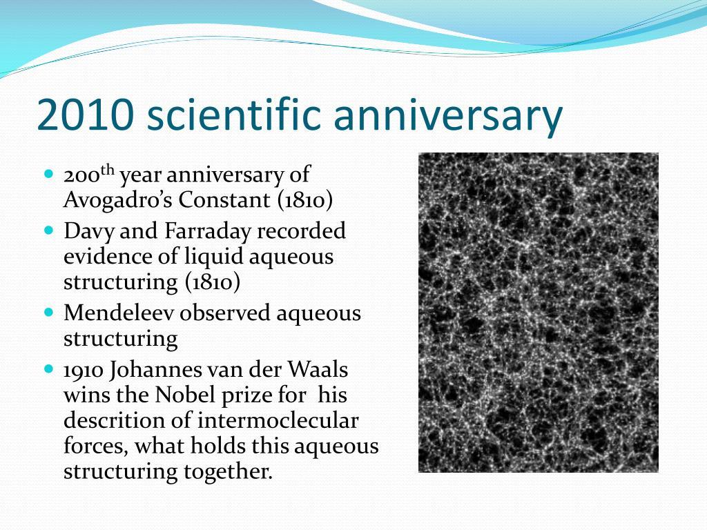 2010 scientific anniversary