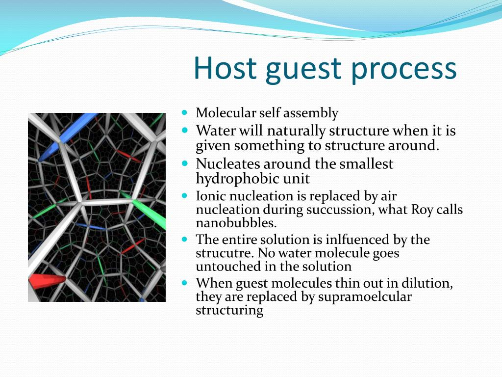 Host guest process