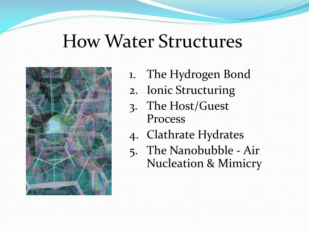 How Water Structures