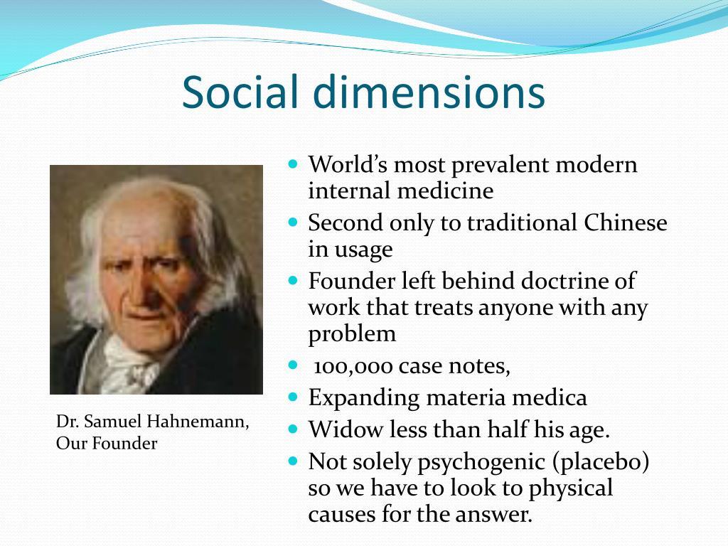 Social dimensions