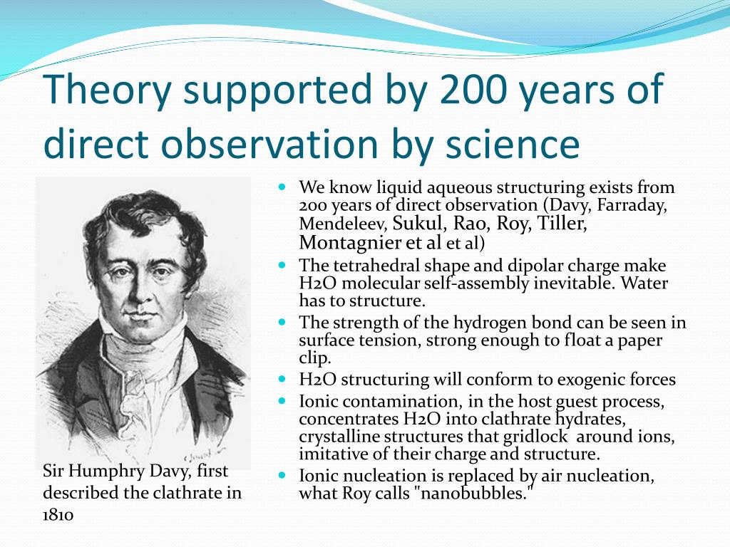 Theory supported by 200 years of direct observation by science