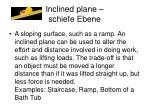 inclined plane schiefe ebene