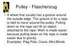 pulley flaschenzug