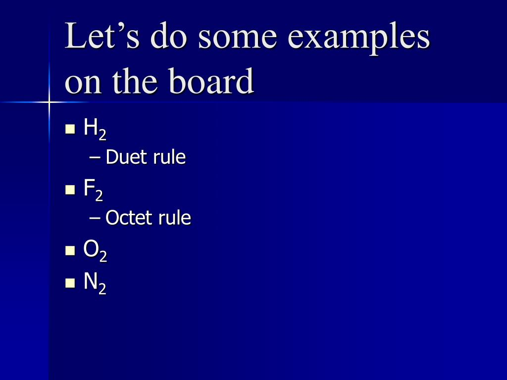 Let's do some examples on the board
